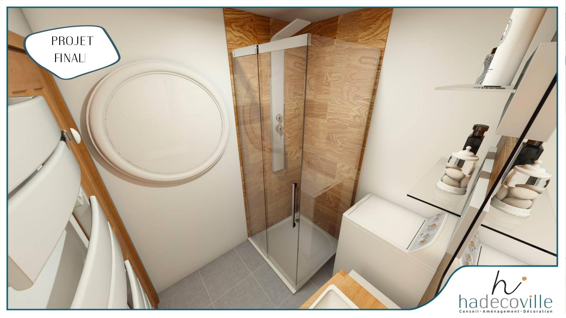 Salle de bain Faïence bois
